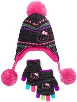 Berkshire 2-Pc. Hello Kitty Heidi Hat & Adjustable Gloves Set, Little Girls & Big Girls