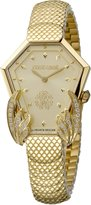 Roberto Cavalli HEXAGON SNAKE Women's Swiss-Quartz Stainless Steel Bracelet Watch
