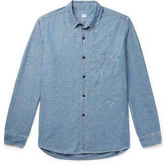 Chimala Paint-Splattered Cotton-Chambray Shirt