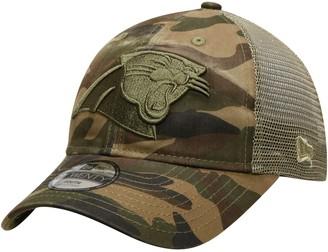 New Era Youth Camo Carolina Panthers Tonal Trucker 9TWENTY Adjustable Hat
