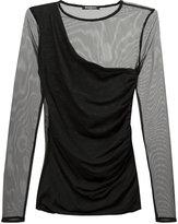 Balmain mesh-panelled dress