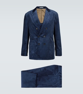Brunello Cucinelli Leisure Fit velvet suit