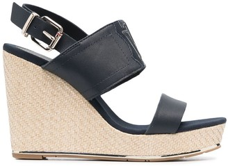 Tommy Hilfiger Logo-Patch Wedge Sandals