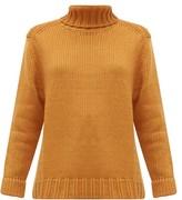 JoosTricot Roll-neck Wool-blend Sweater - Womens - Brown