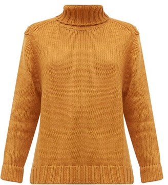 JoosTricot Roll-neck Wool-blend Sweater - Brown