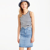 J.Crew Faux-leather scalloped trim tank top in stripe
