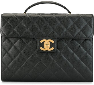 Chanel Pre Owned 1995 quilted CC briefcase