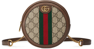 Gucci Ophidia Mini Round GG Supreme Chain-Strap Backpack