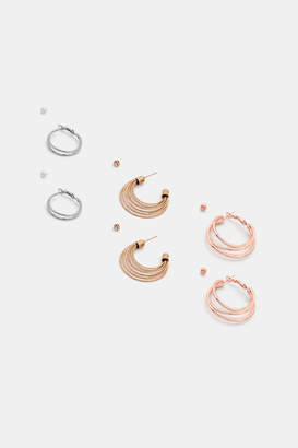 Ardene Pack of Hoop and Stud Earrings