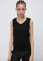 Issey Miyake black mesh a-poc top