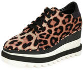 Stella McCartney Sneakelyse Leopard Wedge Sneaker