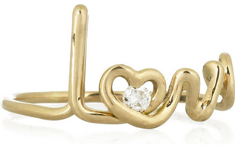 Solange Azagury-Partridge Love 18-karat gold diamond ring