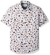 Original Penguin Men's Short Sleeve Fisherman Print Woven Shirt