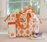 Pottery Barn Kids Orange Ikat Larkspur Diaper Bag & Bottle Bag