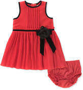 Kate Spade Pleated Chiffon Dress W/ Bloomers, Size 12-24 Months