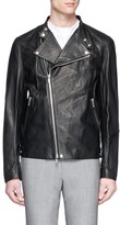 Theory 'Banded DB' leather biker jacket