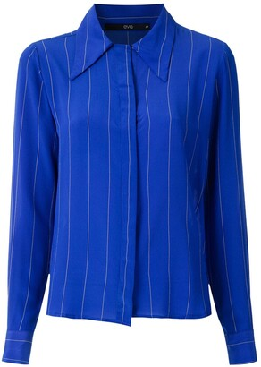 Eva Striped Silk Shirt
