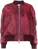 Sacai sheen bomber jacket - women - Cotton/Nylon/Polyester/Cupro - 3