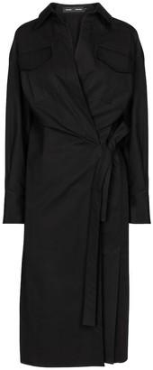 Proenza Schouler Cotton-poplin wrap dress
