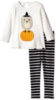 Mud Pie Halloween Owl Tunic Leggings Set Girl's Active Sets