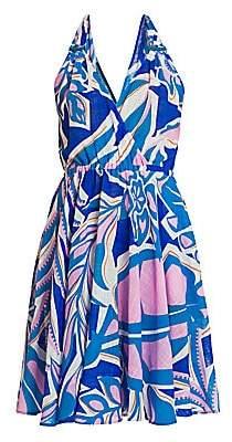 Emilio Pucci Women's Rustic Cotton Halter Dress