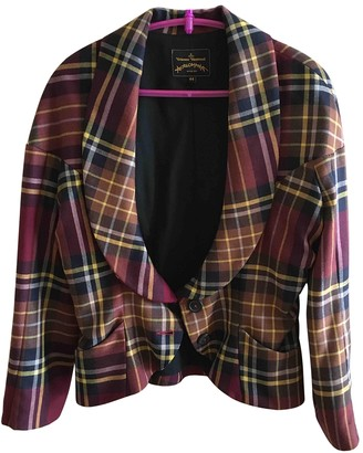 Vivienne Westwood Burgundy Wool Jacket for Women
