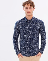 Scotch & Soda Long Sleeve Shirt With All-Over Printed Pattern