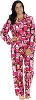 PajamaMania Women's Flannel Long Sleeve Pajamas, (PMF1002-2032-CAN-LRG)