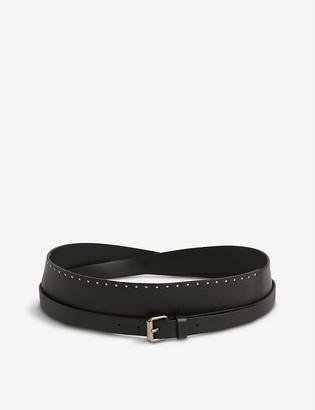 AllSaints Alcor studded leather belt