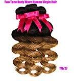 Violet Beauty 7a Grade Ombre Brazilian Virgin Hair Body Wave Bundles 24 26 28 inch Human Ombre Hair Extensions