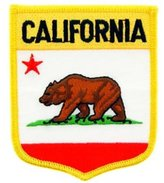 "FindingKing California State Flag Shield Patch 2 7/8"" x 3 1/2"""