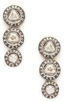 Amrapali 14K Yellow Gold, Silver & 2.30 Total Ct. Diamond Triple Drop Earrings