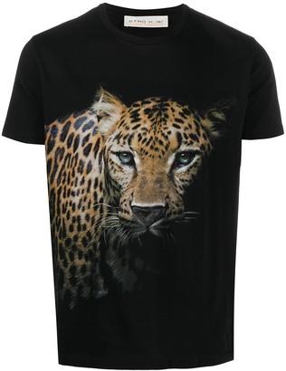 Etro leopard-print cotton T-shirt