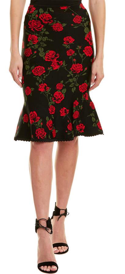 BCBGMAXAZRIA Floral Pencil Skirt