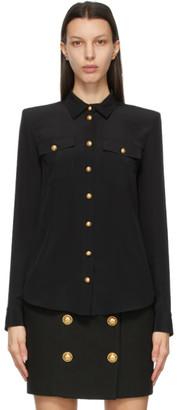 Balmain Black Georgette Shirt