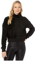 Beyond Yoga All Time Cropped Pullover (Black Sherpa) Women's Clothing