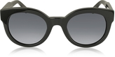 Marc Jacobs MJ 588/S Black Touch Round Acetate Women's Sunglasses