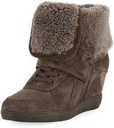 Ash Brendy Fur-Lined Wedge Sneaker