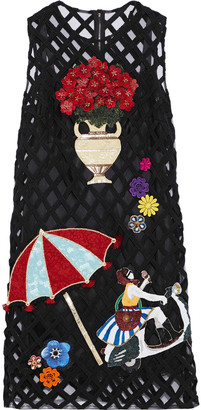 Dolce & Gabbana Appliqued Tulle Dress