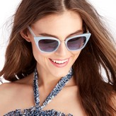 Sole Society Pearl Frosted Cat Eye Sunglasses
