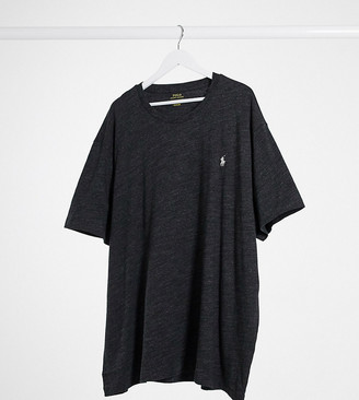 Polo Ralph Lauren Big & Tall logo t-shirt in black marl