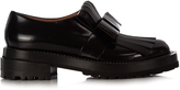 Marni Fringed-bow leather loafers