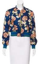 Tara Jarmon Floral Bomber Jacket