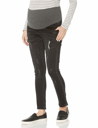 Maternal America Women's Maternity Over the Belly Ankle Jeans