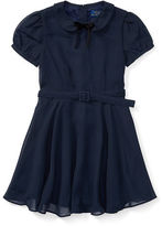 Ralph Lauren Chiffon Cap-Sleeve Dress