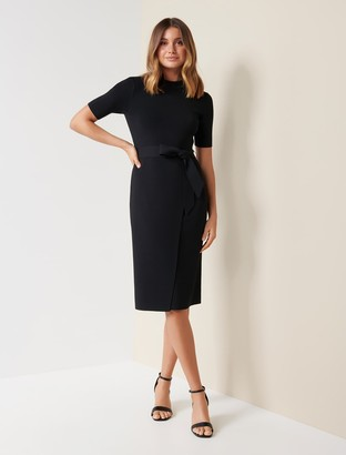 Forever New Skye Wrap Knit Dress - Black - 10