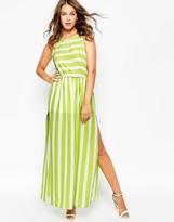 Love Side Split Maxi Dress in Stripe