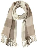 New Look Women's Mink check Scarf, Brown (Mink), One Size