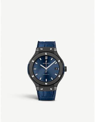 Hublot 565.CM.7170.LR Classic Fusion Blue ceramic and leather Watch