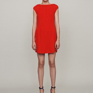 Maje Sleeveless pleated dress